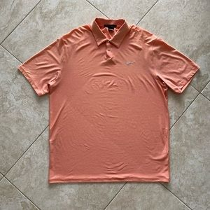 Nike Tiger Woods Collection Golf Polo XL Orange
